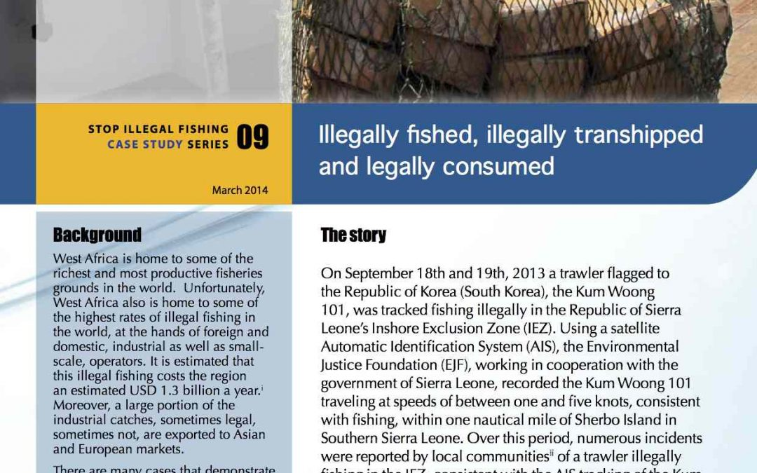 Illegally Fished, Illegally Transhipped and Legally Consumed