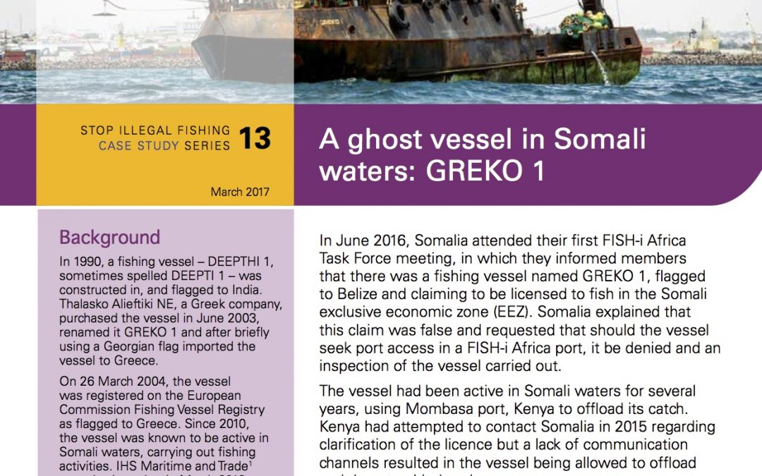 A ghost vessel in Somali waters: GREKO 1